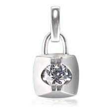 铂Pt950钻石吊坠