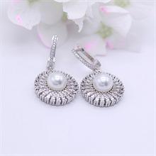 银925珍珠耳环