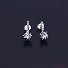 银925锆石耳钉