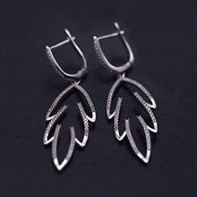 银925锆石耳环