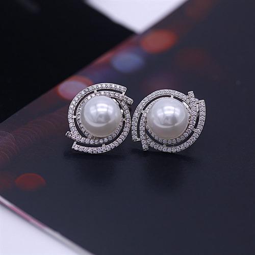银925珍珠耳钉