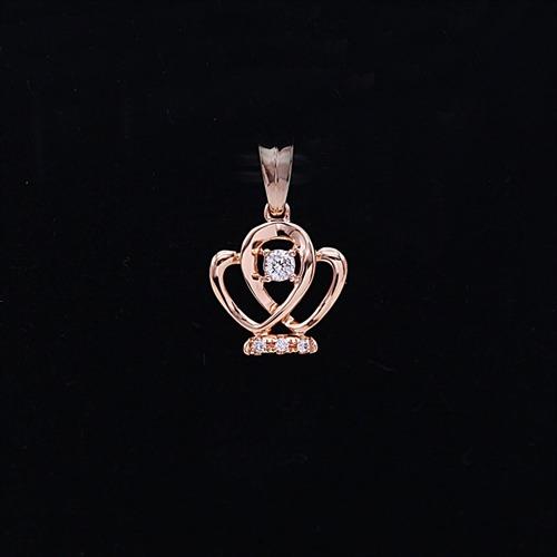 彩18K金钻石挂坠
